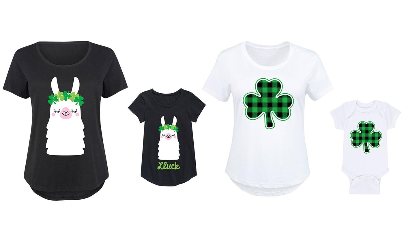 Mommy and Me Matching St. Patrick's Day Tee. Plus Sizes Available