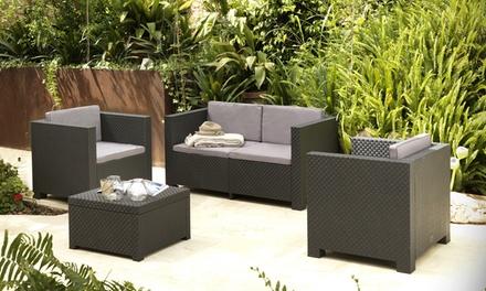 salon de jardin en r sine groupon. Black Bedroom Furniture Sets. Home Design Ideas