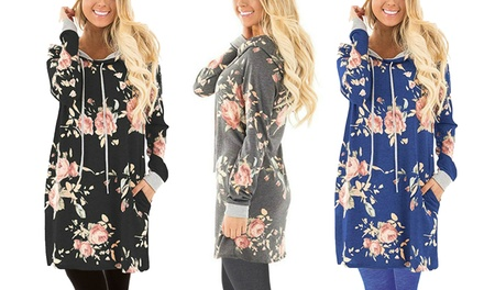 Womens Hooded Floral Dress