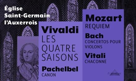 1 place pour 1 concert de musique classique au choix avec 5 dates au choix dès 10 € à l'Eglise Saint-Germain-l'Auxerrois