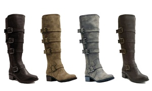 Brooklyn Women's Extra-Wide Calf Riding Boots