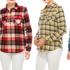 Women's Button-Down Cotton Shirt with Front Pockets
