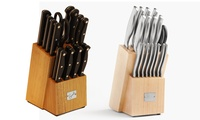 18-Piece Emeril Stainless Steel Knife Block Set