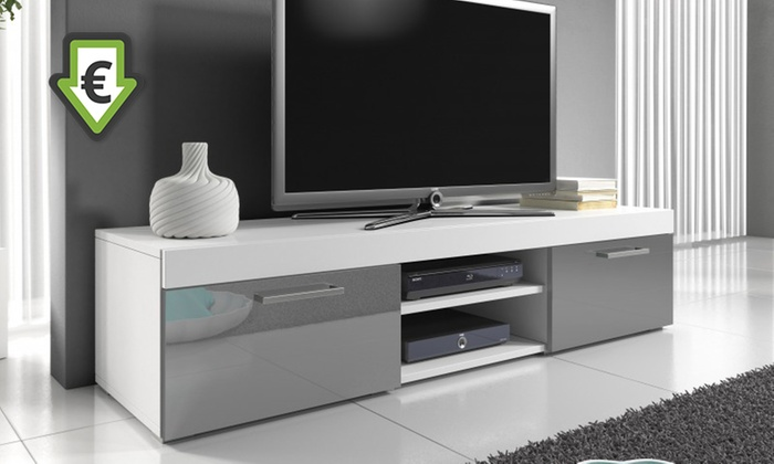 meuble tv laqu groupon. Black Bedroom Furniture Sets. Home Design Ideas