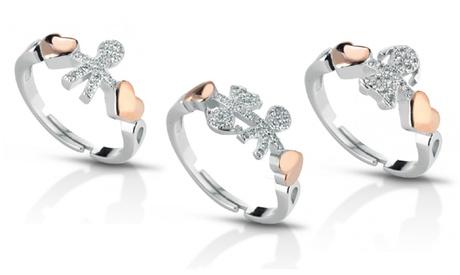 Anelli in argento 925 con cristalli disponibili in 3 modelli