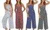 Women's Polka-Dot Cropped Jumpsuit