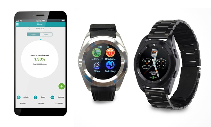 Cloud Smart Technology co. ltd: From $69 for a G6 Men's Todo Stainless Steel or Rubber Band Smart Watch