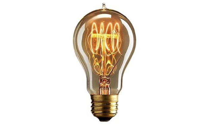 vintage edison light bulbs groupon. Black Bedroom Furniture Sets. Home Design Ideas