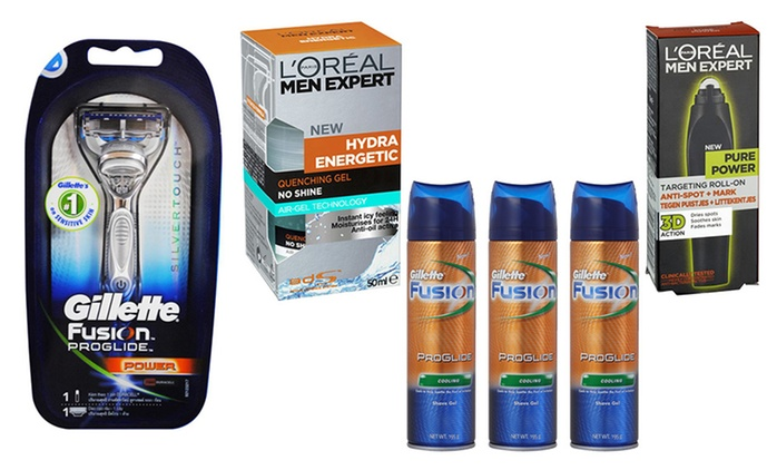 $26 for a L'Oreal Men Expert and Gillette Fusion ProGlide Six-Piece Gift Pack (Don't Pay $76.31)