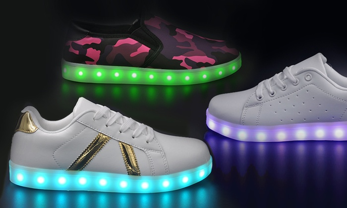 Gleamkicks Unisex Usb Charging Led Light Up Sneakers 4 Styles