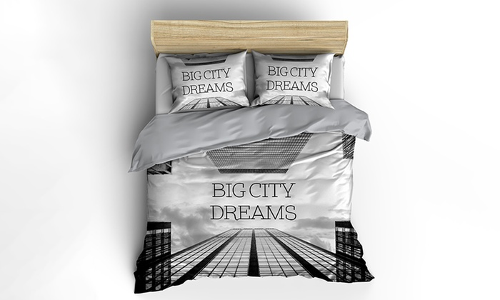 baumwolle bettw sche nightlife groupon goods. Black Bedroom Furniture Sets. Home Design Ideas