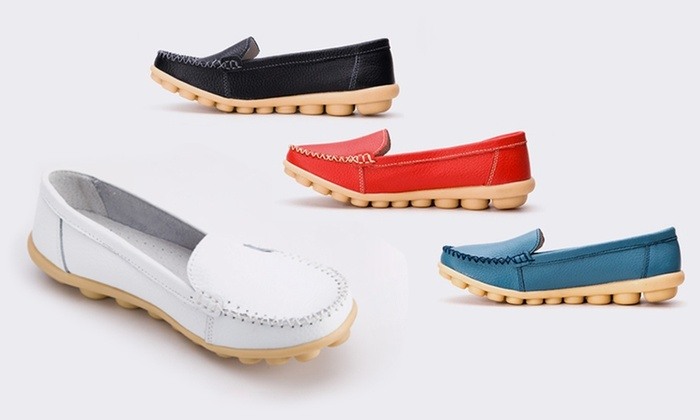 Mocassins Snow Paw 100% cuir   Groupon Shopping f75690a90e6a