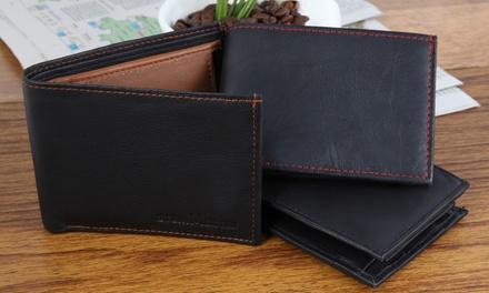 1 o 2 carteras de piel auténtica con múltiples compartimentos Steinmeister