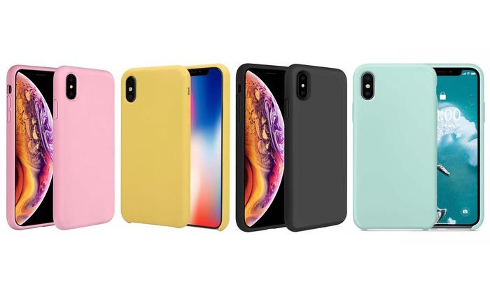 iphone xs liquid silicone case