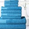Elegance Spa 100% Egyptian Cotton 600GSM Chevron Towel Set (10-Piece)