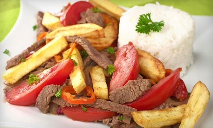 Tumi Fine Peruvian Restaurant - Amberwood South: Peruvian Dinner with Drinks and Dessert for Two, or $10 for $20 Worth of Peruvian Food at Tumi Fine Peruvian Restaurant