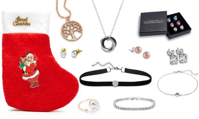 Calza natalizia con regali