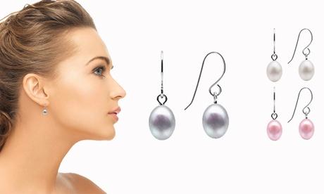 Juego de 3 pendientes de perla