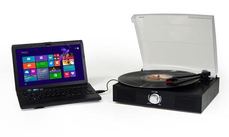 Tocadiscos USB Jocca1157 con altavoz,compatible con Mac o PC