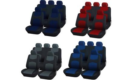 Coprisedili universali per autocon coprivolante e cintura disponibili in vari colori