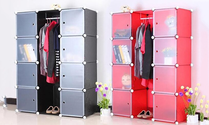 Adjustable Modular Storage Cabinet | Groupon
