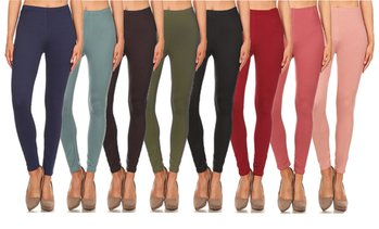 Ladies High Waist Soft Leggings