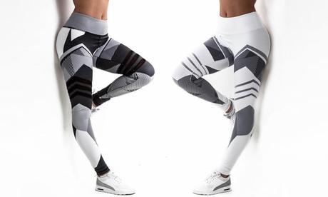 1 o 2 pares de leggings deportivos con estampado geométrico