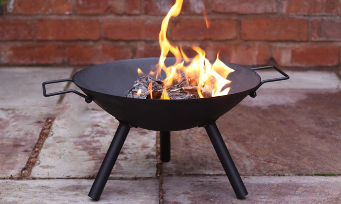 groupon goods global gmbh maelyss cast iron fire pit for 25 with free delivery