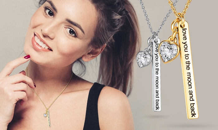 Neverland Sales: One (€8.99) or Two (€15.99) Love to the Moon Necklaces with Crystals from Swarovski® With Free Delivery (Up to 84% Off)