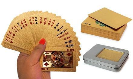 1x oder 2x vergoldetes Spielkarten-Set inkl. Silberbox (Koln)