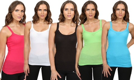 Women's SixPack of Rib Strap Vests for £8.99