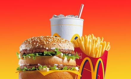 "Three or Five Regular Extra Value Meals at McDonald""s (42% Off)"