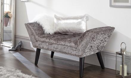 Velvet Bedroom Bench