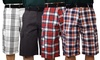 Maxxsel Oscar Sport Men's Relaxed Fit Plaid Belted Cargo Shorts