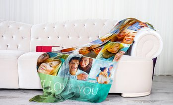 Up to 94% Off Personalized Photo Blankets from Printerpix