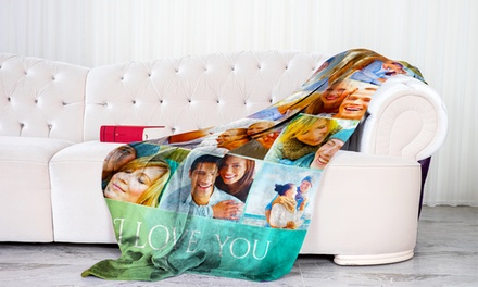 Personalized Fleece Photo Blankets by Printerpix (Up to 95% Off)