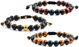 Shocker Tie Natural Healing Stone Bracelets