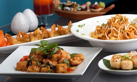 Four-Course Thai or Chinese Meal including Prosecco & Prawn Crackers for Up to Six at Fusion Restaurant (Up to 56% Off)