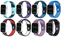 Deals on Breathable Silicone Sport Band for Apple Watch Series 1, 2, 3