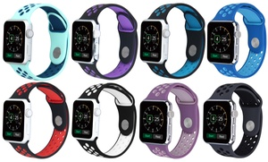 Breathable Silicone Sport Band for Apple Watch Series 1, 2, 3, & Sport