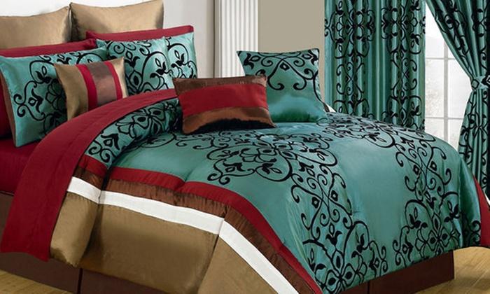 lavish home room in a bag bedroom set 24 or 25 - Bedding In A Bag