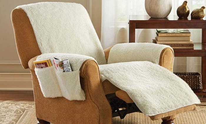 Superb As Seen On TV Snuggle Up Recliner Seat Cover With 4 Storage Pockets: As  Seen ...
