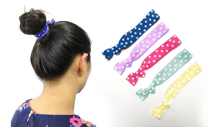 PoneeZ No-Crease or Damage Elastic Ribbon Hair Ties (5-Pack) ... cb0f94aa2ec