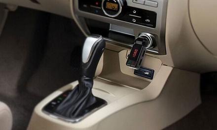 1 o 2 kits manos libres para el coche con Bluetooth reproductor de MP3 y transmisor FM