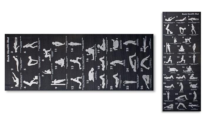 Memory Foam Yoga Mat with 28 Asana Postures