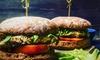 Burger inkl. Beilage und Dip