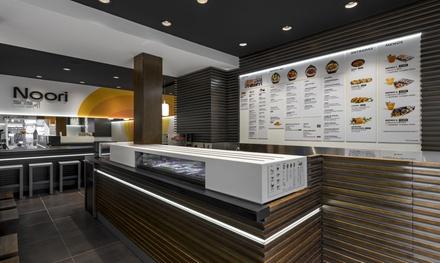 Menú sushi para 2 o 4 con sopa, 48 o 96 piezas de sushi y bebida en local o para llevar desde 19,95 € en Noori Sushi