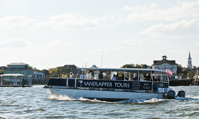 Sandlapper Water Tours - Charleston: Nature, Sunset, or History Boat Tour for Two or Four from Sandlapper Water Tours (Up to 46% Off)