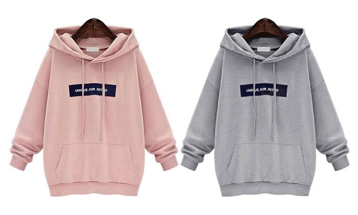Bis zu 62% Rabatt Damen-Baumwollsweater mit Kapuze   Groupon e2386a9ad8