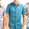 Indigo Star Men's Woven Shirt